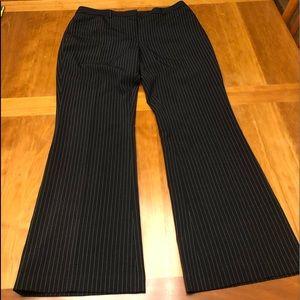 Tommy Hilfiger size 14 pinstripe pants black